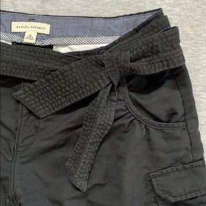 Black Bow Belt Shorts